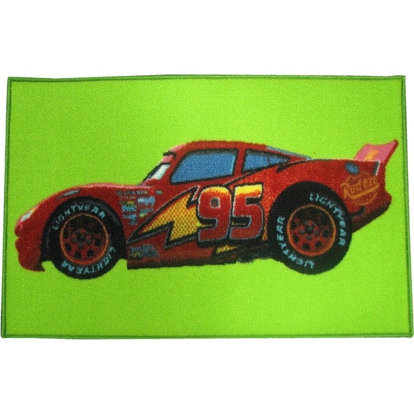 Shop Disney Pixar Cars Lightning McQueen 20x31 Rug, Green