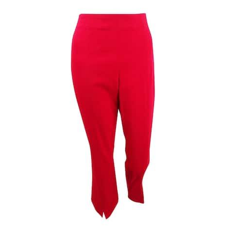 INC International Concepts Women's Cropped Split-Hem Pants