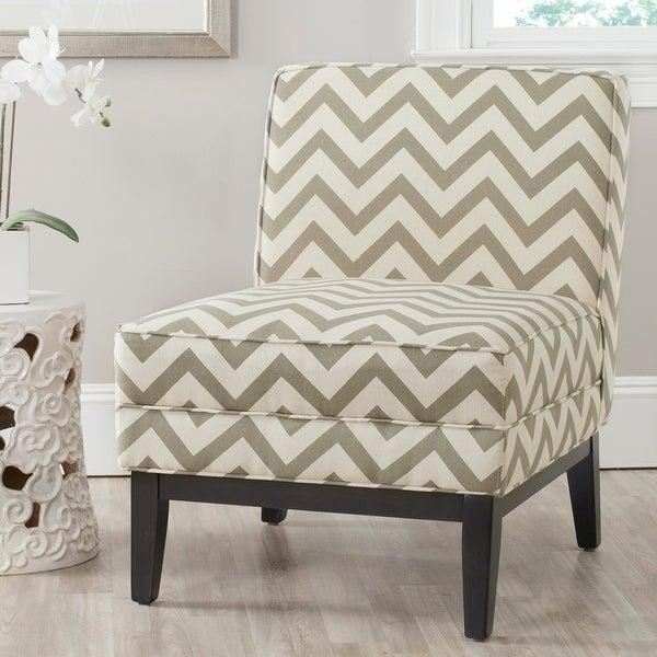 "SAFAVIEH Armond Grey/ White Chair - 25.2""x31.9""x33.1"". Opens flyout."