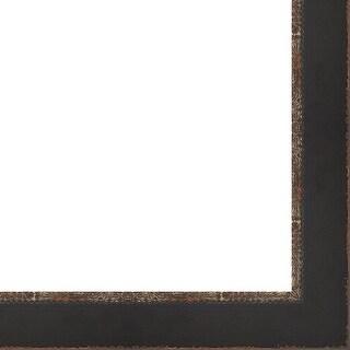 "Picture Frame Moulding (Wood) - Distressed/Aged Black Finish - 2.25"" width - 1/2"" rabbet depth"