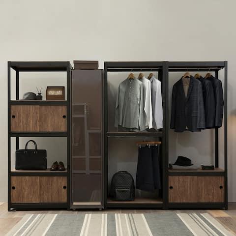 Aurora Home 1Hanger 2Shelf Customizable Modular Shelving and Storage