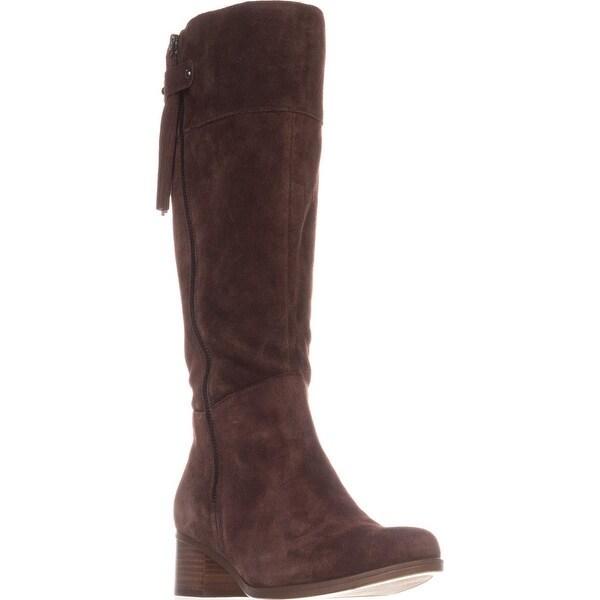 naturalizer Demi Wide Calf Riding Boots, Chocolate
