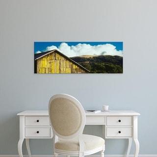 Easy Art Prints Panoramic Image 'Weathered wooden barn, Gaviota, Santa Barbara County, California, USA' Canvas Art
