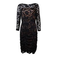Jessica Howard Women's Lace Overlay Ruched Dress