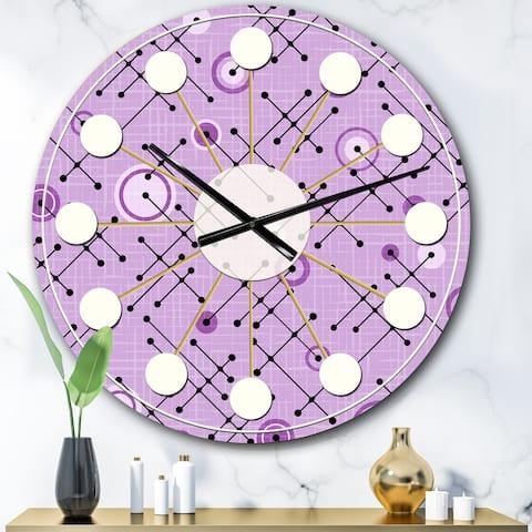 Designart '1950 Retro Pattern III' Mid-Century wall clock