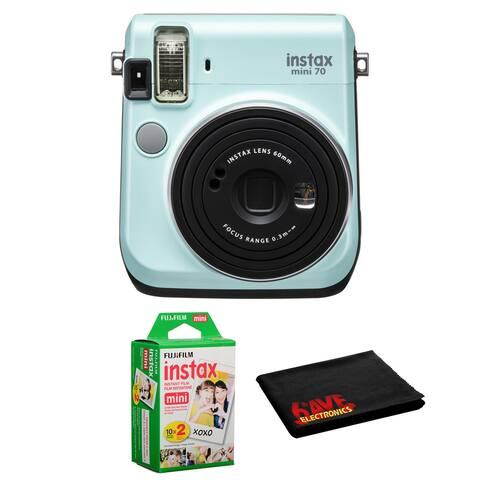 FUJIFILM INSTAX Mini 70 Instant Film Camera Icy Mint Kit +Instant Film