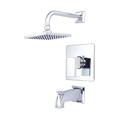Pioneer Mod Collection - Single Handle Tub and Shower Trim Set - Polished Chrome