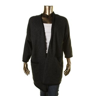 Eileen Fisher Womens Plus Open Front Kimono Sleeves Cardigan Sweater