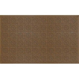 843520024 Water Guard Star Quilt Mat in Dark Brown - 2 ft. x 4 ft. ft.