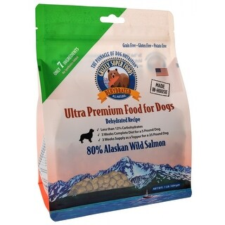 Grizzly Super Foods Dehydrated Alaskan Wild Salmon for Dogs 1 lb