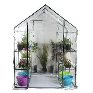 76.75 Outdoor Spring Bloom Heavy Duty Walk-In Greenhouse - CLEAR