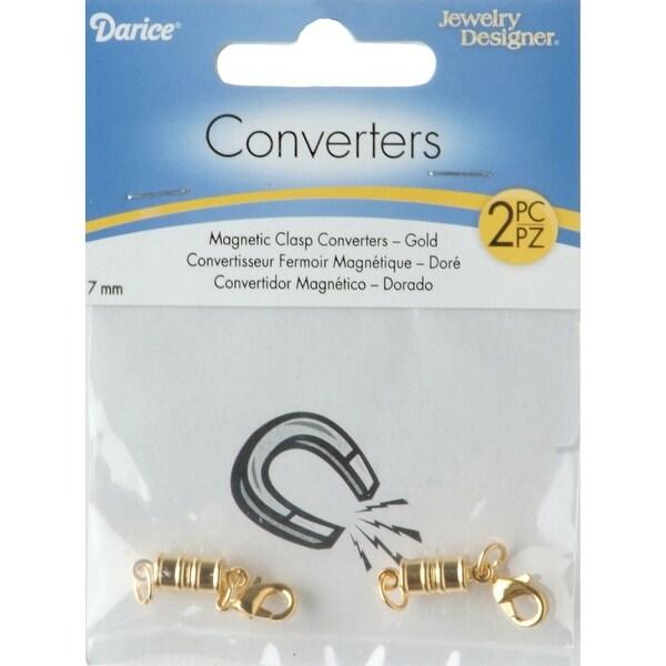 Magnetic Clasps 7mm 2/Pkg-Gold - GOLD