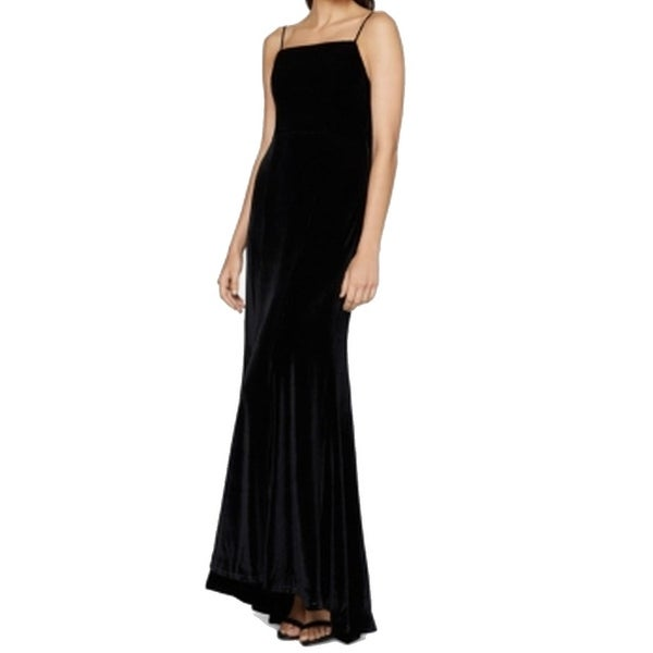 df4cc0a5951 Shop Fame and Partners NEW Black Womens Size 0 Velvet Cowl-Back Maxi ...