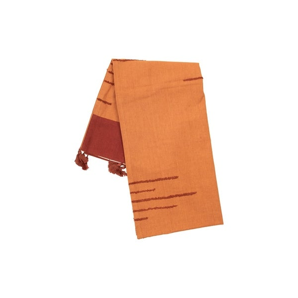 The Curated Nomad Wemberly Orange Handwoven Table Runner
