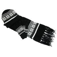 CTM® Women's Chenille Snowflake Hat Gloves and Scarf Set - One size