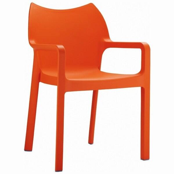 Diva Stackable Armchair [Set of 4] Orange