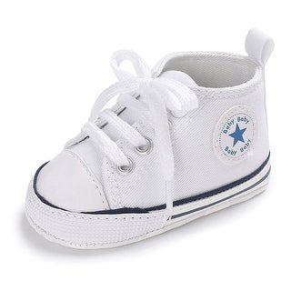 Baby Girls Boys Canvas Shoes Soft Sole Toddler First Walker Infant High-Top A...