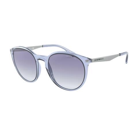 Emporio Armani EA4148 584419 54 Shiny Transparent Blue Woman Phantos Sunglasses