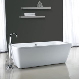 "Miseno MT6932FSR 68-9/10"" Soaking Bathtub for Free Standing Installations with Center Drain - Overflow and Drain Assembly"