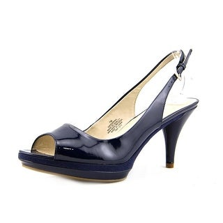 Nine West Sharina Women Open-Toe Synthetic Blue Slingback Heel