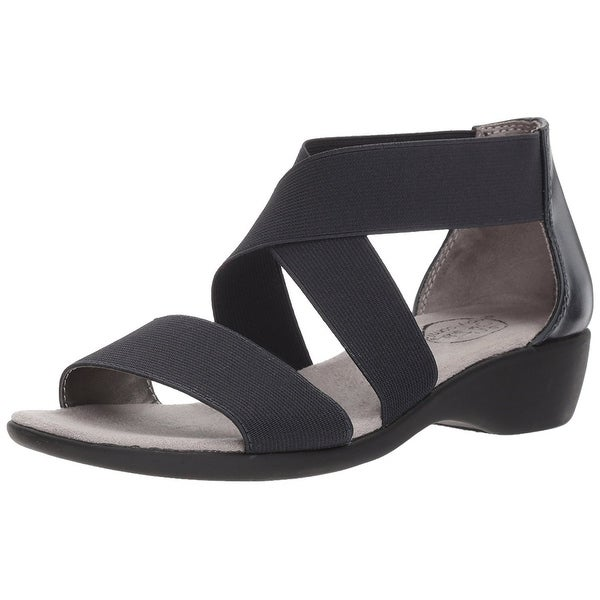 LifeStride Womens Tellie Open Toe Casual Ankle Strap Sandals