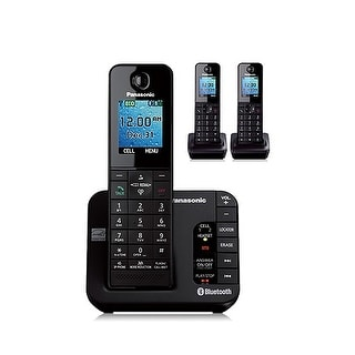 Panasonic KX-TGH263B 3 Handset DECT 6.0 Plus Cordless Phone New