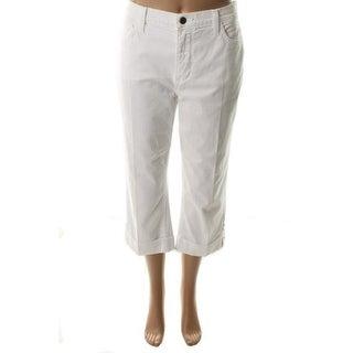 NYDJ Womens Helen Capri Jeans Denim Emebllished - 6