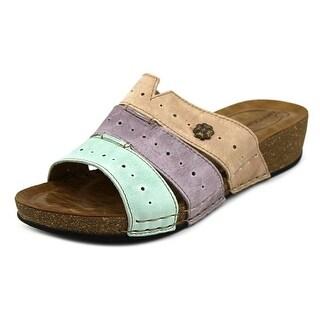 Wanderlust 3 Banded Slide Women W Open Toe Leather Multi Color Slides Sandal
