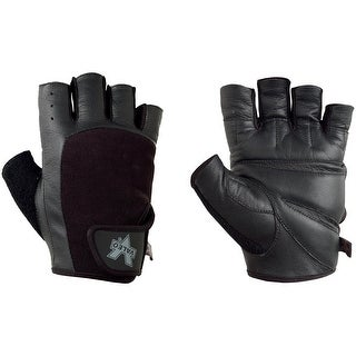 Valeo Competition Leather Weight Lifting Gloves - Black