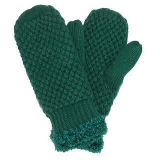 David & Young Women's Popcorn Knit Mittens - One size