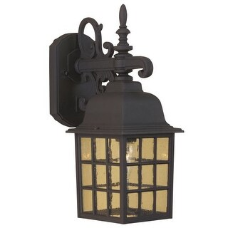 """Craftmade Z270 Grid Cage 15"""" 1 Light Outdoor Wall Sconce"""