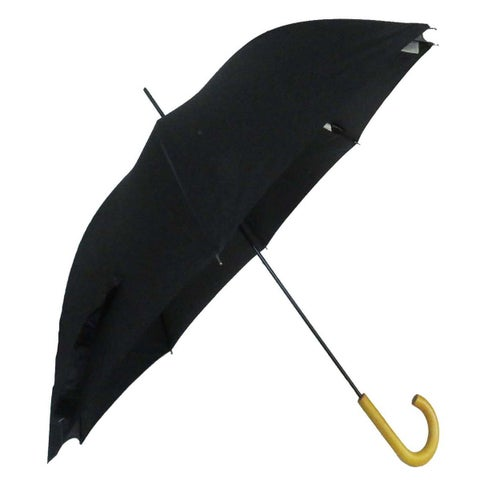 The Indestructible Umbrella Black Steel Frame Model Deluxe Wooden Handle Defense