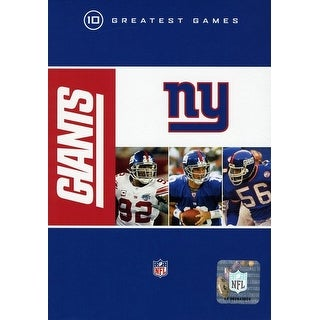 NFL New York Giants 10 Greatest Games [DVD]