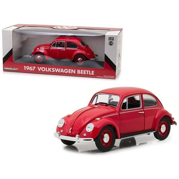 VW Escarabajo Volkswagen Beetle Coupe Rojo metalizado 1//18 GreenLight modelo coche con od