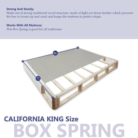ONETAN 4-Inch Wood Fully Assembled Split Low Profile Traditional Box Spring/Foundation For Mattress.