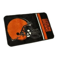 NFL Cleveland Browns Non-Skid Throw Rug 20 x 30 inch - Brown