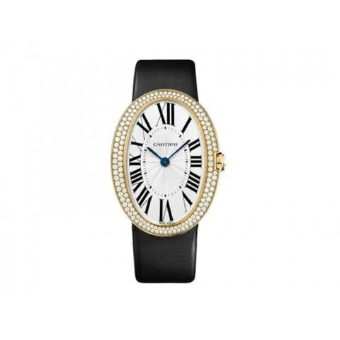 Cartier Women's WB520022 'Baignoire' Black Synthetic Watch