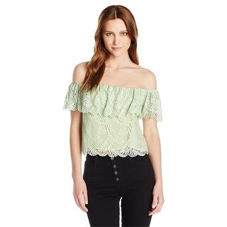 GUESS Sasha Off The Shoulder Lace Top