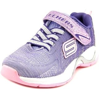 Skechers Hi Glitz Youth Round Toe Canvas Purple Sneakers