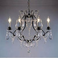Swag Plug In Swarovski Elements Crystal Trimmed Wrought Iron Crystal Chandelier Lighting