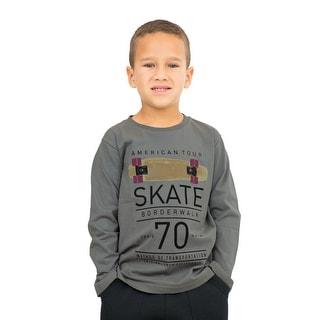 Pulla Bulla Little Boy Long Sleeve Graphic Tee Shirt