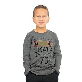 Pulla Bulla Little Boy Long Sleeve Graphic Tee Shirt (More options available)