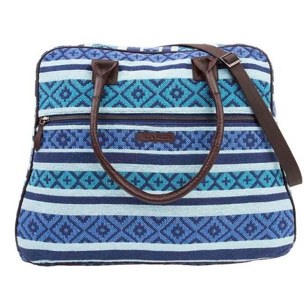 83d251b28 Shop Bella Taylor Eliza Weekender - Aqua, Indigo & - Free Shipping Today -  Overstock - 25210122