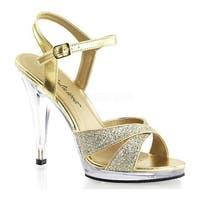 Fabulicious Women's Flair 419G Gold Multi Glitter/Clear