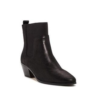 Elie Tahari Positano Black Leather Booties