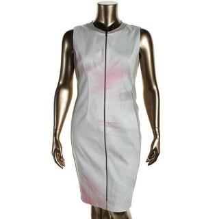 T Tahari Womens Avani Printed Sleeveless Wear to Work Dress - 12