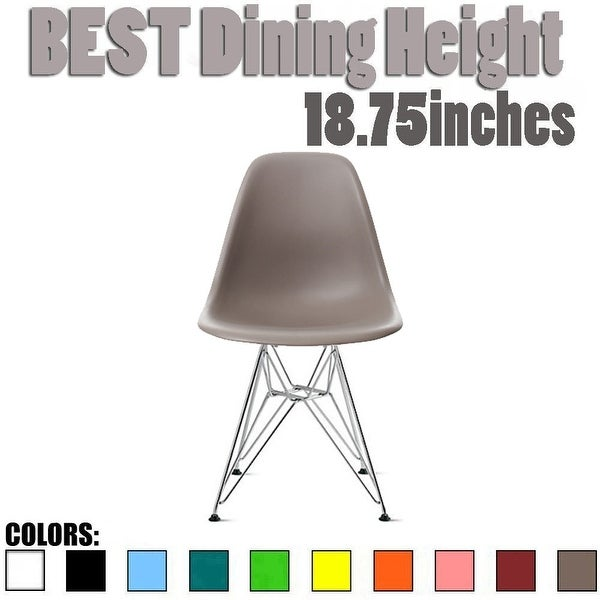 2xhome Designer Plastic Chairs Chrome Silver Wire Legs