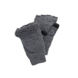 Muk Luks Gloves Mens Thinsulate Flip Top Faux Fur Accent O/S