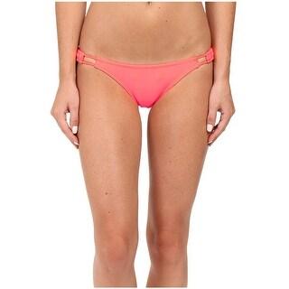 Volcom Womens Swimsuit Bikini Bottom Small S Neon Pink Simply Solid