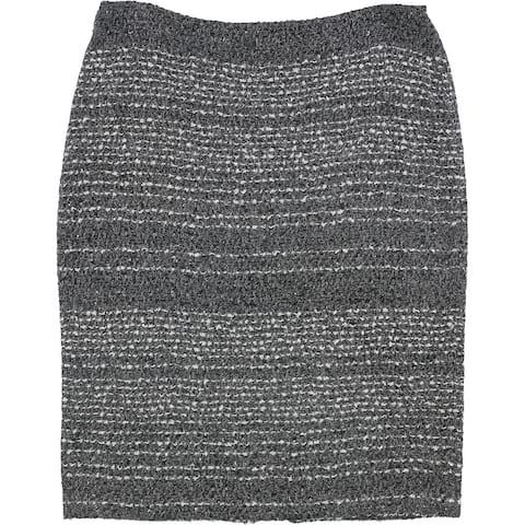St. John Womens Glimmer Pencil Skirt